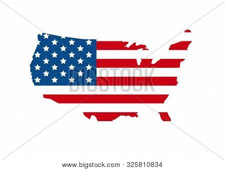 Vote 2020 In Usa, Banner Design. American Flag Patriotic Background Election Day. Usa Debate Of Pres