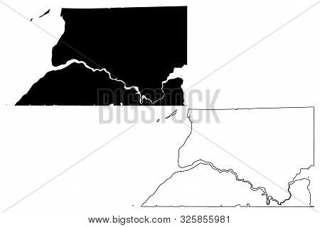 Bristol Bay Borough, Alaska (Boroughs and census areas in Alaska, United States of America,USA, U.S., US) map vector illustration, scribble sketch Bristol Bay map poster