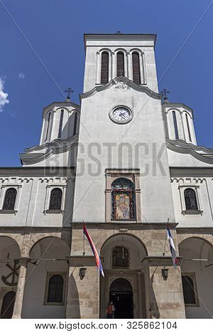 Nis, Serbia - June 15, 2019: Holy Trinity Cathedral Church At The Center Of City Of Nis, Serbia