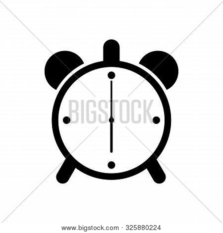 Alarm Clock Logo Icon Isolated. Watch Object, Time Office Symbol. Clock Flat Icon. Time Logo. Watch