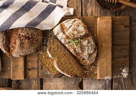 Bread On The Leaven. Fresh Homemade Bread. Crisp. Bread At Leaven. Unleavened Bread. Dietary Bread