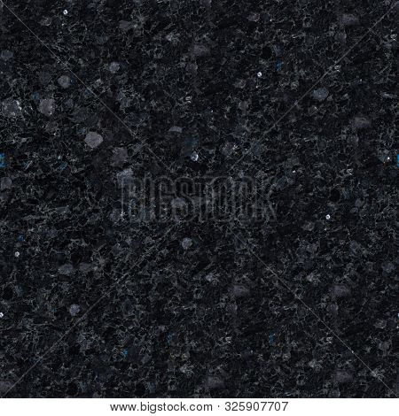Dark Relief Labradorite Texture With Glaring Stones. Seamless Square Background, Tile Ready.