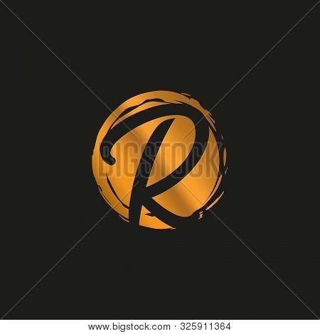 R. R Monogram Logo. R Letter Logo Design Vector Illustration Template. R Logo Vector. Creative Lette