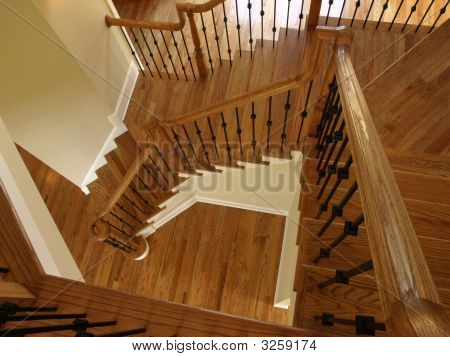 Luxury Descending Wooden Staircase