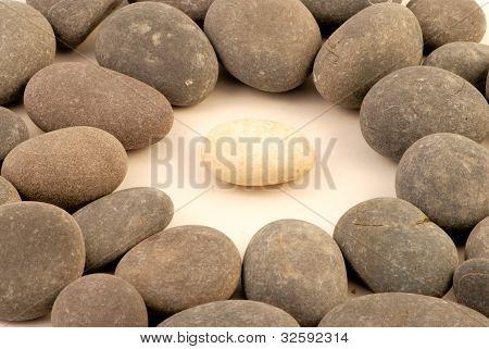white stone surrounded