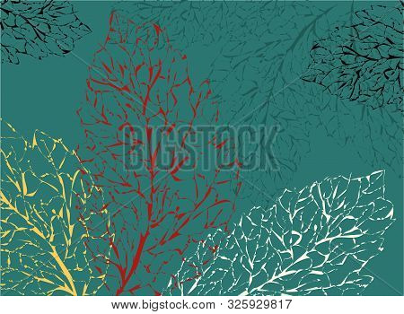 Autumn Leaves Background, Great Design For Any Purposes. Pattern With Red Autumn Leaves Background F