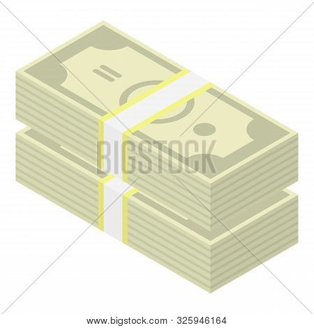 Federal Dollar Pack Icon. Isometric Of Federal Dollar Pack Vector Icon For Web Design Isolated On Wh