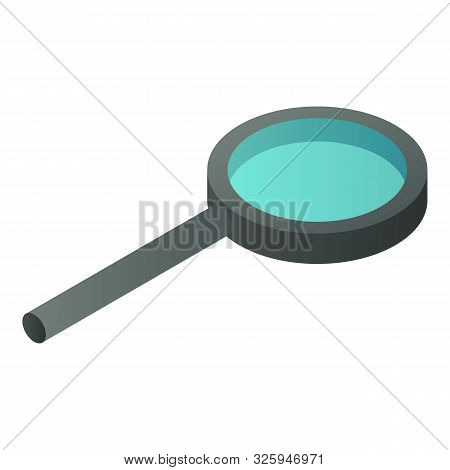 Optical Magnify Glass Icon. Isometric Of Optical Magnify Glass Vector Icon For Web Design Isolated O