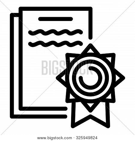 Lawsuit Icon. Outline Lawsuit Vector Icon For Web Design Isolated On White Background