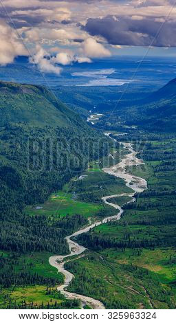 Green Heart Of Alaska - A River Winding Through The Green Dwarf Forest