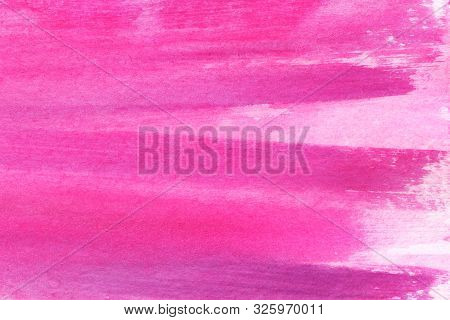 Abstract Watercolor Background. Girly Pink Craiola Background. Deep Shades Of Magenta And Fuchsia. S