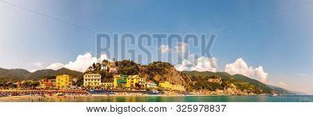 Monterosso Al Mare, Italy - September 02, 2019: Panorama Of Rocky Marina, Clear Water Of Ligurian Se