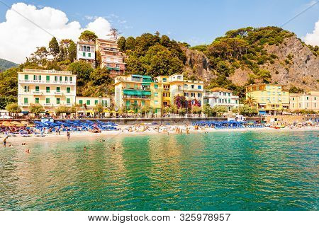 Monterosso Al Mare, Italy - September 02, 2019: Transparent, Clear Water Of Ligurian Sea, The Beach