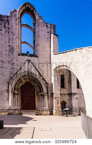 Carmo Convent Or Convent Of Our Lady Of Mount Carmel Is The Ruins Of Gothic Church In The Historical