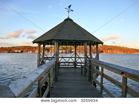 Gazebo On Lake