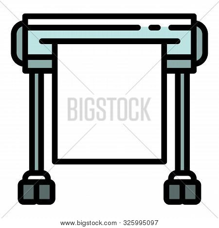 Plotter Icon. Outline Plotter Vector Icon For Web Design Isolated On White Background