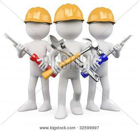 3D Workers - Team Of Work