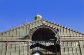 Borne Market facade nineteenth century. Gothic Quarter of Barcelona. Barcelona ??Catalonia Spain. poster