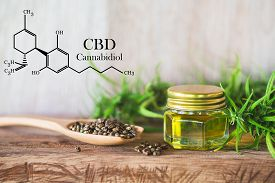 Cannabis Of The Formula Cbd Cannabidiol. Hemp Oil, Cbd Oil Cannabis Extract, Medical Cannabis Concep
