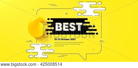 Best Promotion Text. Quote Chat Bubble Background. Special Offer Sale Sign. Advertising Discounts Sy