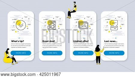 Vector Set Of Business Icons Related To Scroll Down, Image Gallery And Washing Machine Icons. Ui Pho