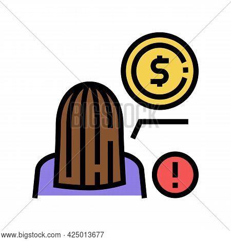 Hair Dress Keratin Cost Color Icon Vector. Hair Dress Keratin Cost Sign. Isolated Symbol Illustratio