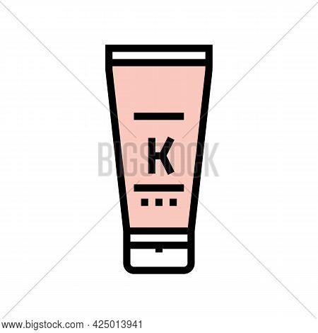 Oil Keratin Tube Color Icon Vector. Oil Keratin Tube Sign. Isolated Symbol Illustration