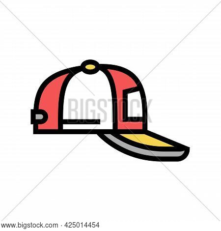 Cap Summer Color Icon Vector. Cap Summer Sign. Isolated Symbol Illustration