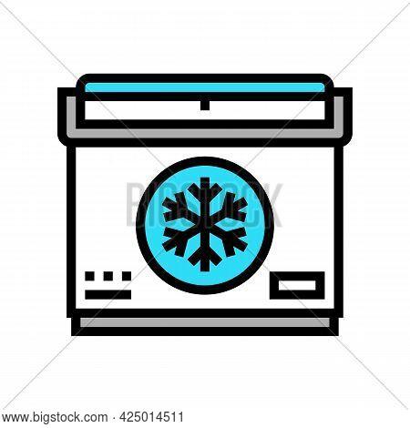Portable Refrigerator Color Icon Vector. Portable Refrigerator Sign. Isolated Symbol Illustration