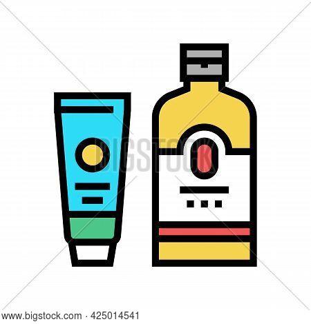 Sunscreen Summer Skin Care Cream Color Icon Vector. Sunscreen Summer Skin Care Cream Sign. Isolated