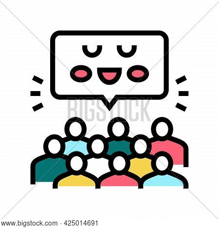 Group Activities And Events In Children Library Color Icon Vector. Group Activities And Events In Ch