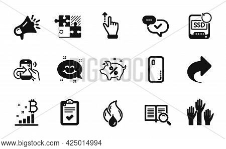Vector Set Of Checklist, Flammable Fuel And Approved Icons Simple Set. Search Text, Smartphone Cover