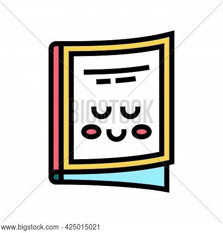 Magazine Children Library Color Icon Vector. Magazine Children Library Sign. Isolated Symbol Illustr