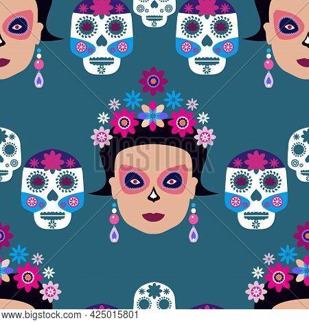 Day Of The Dead? Dia De Los Muertos,  Sugar Tatoo Skulls,  Maracas, Guitar, Sombrero And  Marigold F
