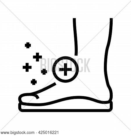 Orthopedic Insoles Tool For Flat Feet Therapy Line Icon Vector. Orthopedic Insoles Tool For Flat Fee
