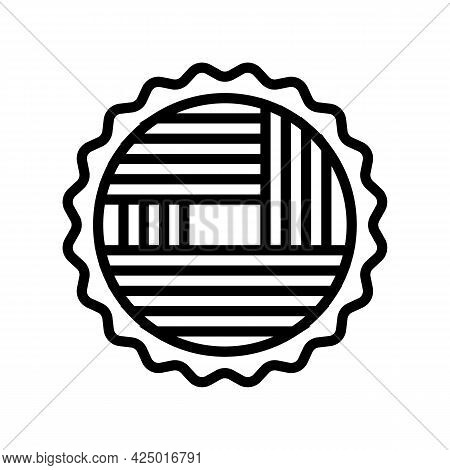 Wood Timber Line Icon Vector. Wood Timber Sign. Isolated Contour Symbol Black Illustration