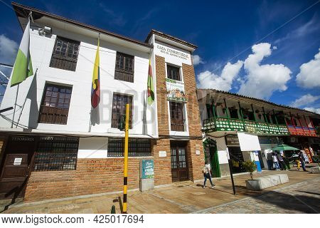 La Ceja, Antioquia - Colombia. June 26, 2021. Town Hall, Mayor's Office Of The Municipal Government