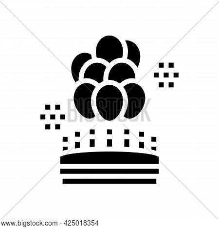 Birthday Balloons Decoration Glyph Icon Vector. Birthday Balloons Decoration Sign. Isolated Contour