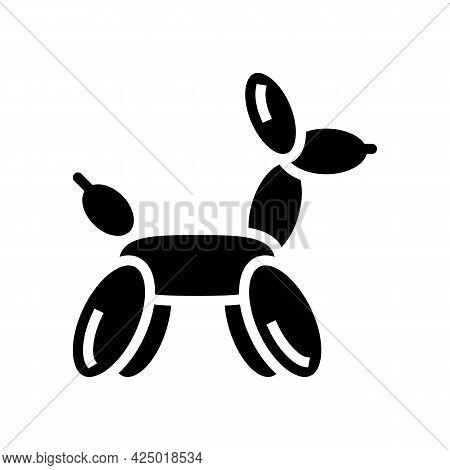 Balloon Sculpture Glyph Icon Vector. Balloon Sculpture Sign. Isolated Contour Symbol Black Illustrat