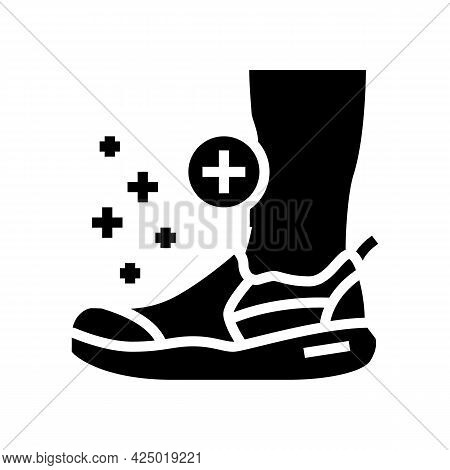 Orthopedic Shoes For Feet Glyph Icon Vector. Orthopedic Shoes For Feet Sign. Isolated Contour Symbol