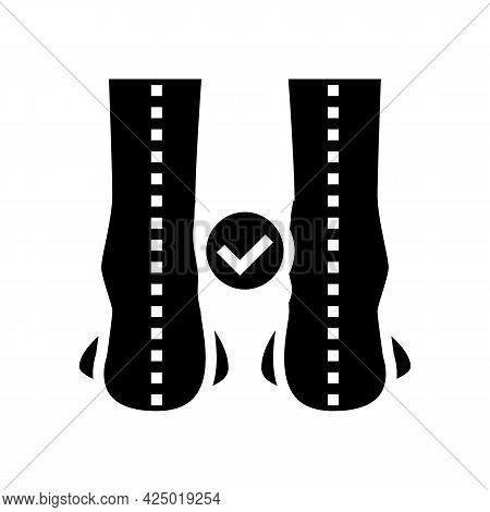 Straight Legs Glyph Icon Vector. Straight Legs Sign. Isolated Contour Symbol Black Illustration