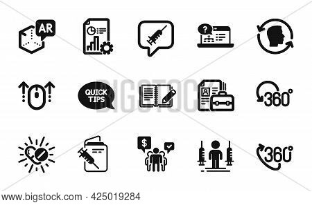Vector Set Of Online Help, Vacancy And Coronavirus Injections Icons Simple Set. Vaccine Message, Rep
