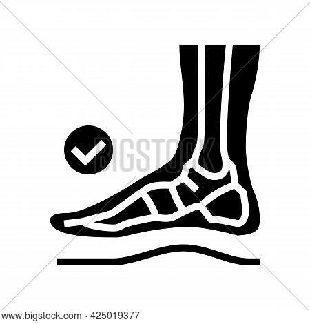 Healthy Bone Feet Glyph Icon Vector. Healthy Bone Feet Sign. Isolated Contour Symbol Black Illustrat