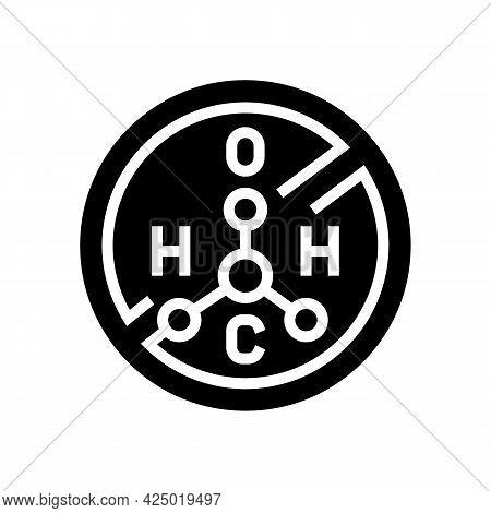 Hydrogen Peroxide Free Keratin Glyph Icon Vector. Hydrogen Peroxide Free Keratin Sign. Isolated Cont