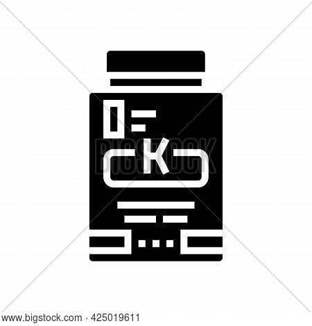 Mask Keratin Packaging Glyph Icon Vector. Mask Keratin Packaging Sign. Isolated Contour Symbol Black