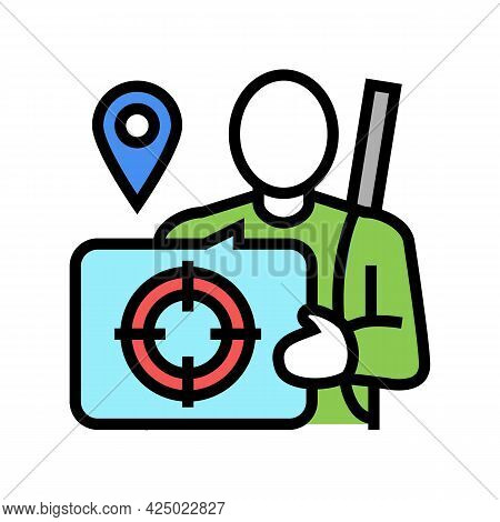 Hunting Tourism Color Icon Vector. Hunting Tourism Sign. Isolated Symbol Illustration