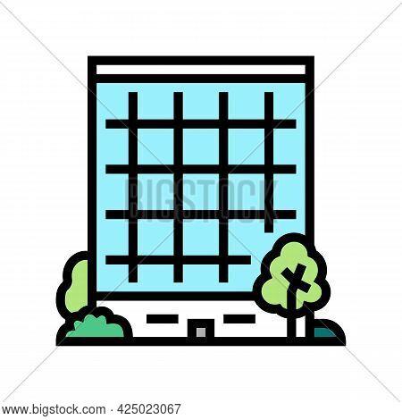 Business Center Gardening Color Icon Vector. Business Center Gardening Sign. Isolated Symbol Illustr