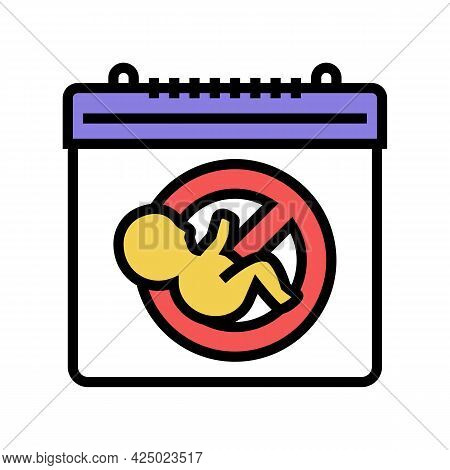 Unplanned Pregnancy Color Icon Vector. Unplanned Pregnancy Sign. Isolated Symbol Illustration