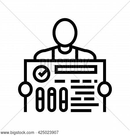 Include Industry Expert Line Icon Vector. Include Industry Expert Sign. Isolated Contour Symbol Blac
