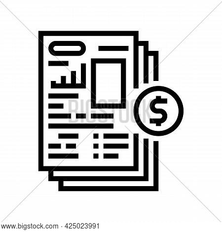 Financial Modeling Line Icon Vector. Financial Modeling Sign. Isolated Contour Symbol Black Illustra